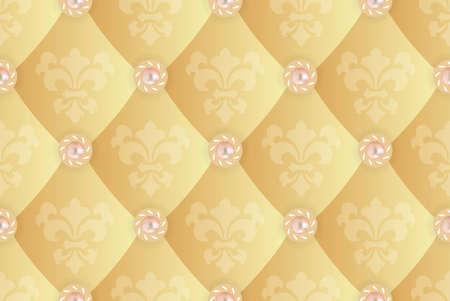 tile able: Sfondo trasparente con Fleur de lis su un giallo