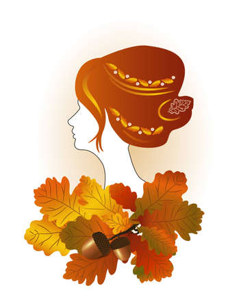 Lady autumn Ilustrace