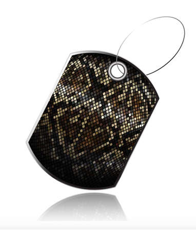 a snake in a bag: Tag of snake skin_2