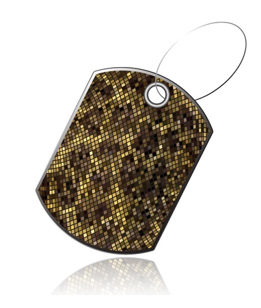 a snake in a bag: Tag of snake skin