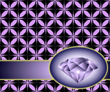 dearly: Seamless background with purple diamond