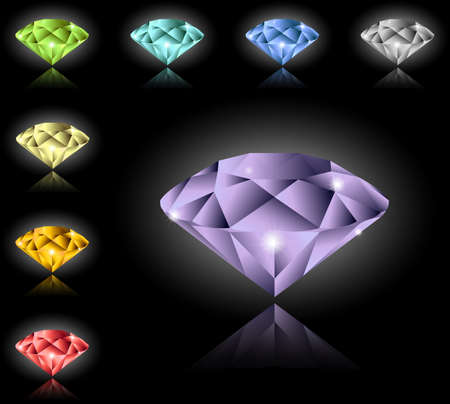Jewels and diamonds set Vector