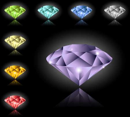 zircon: Jewels and diamonds set Illustration
