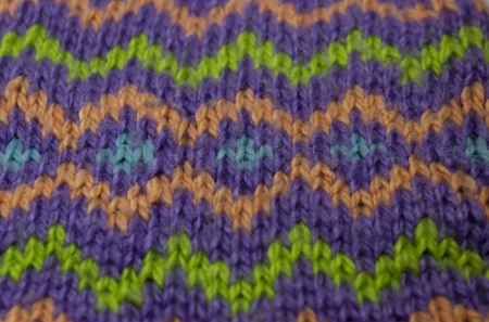 dense mats: Bright background with zigzag knit multicolored stripes