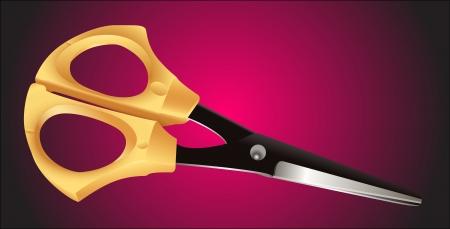 graceful: Graceful scissors for needlework Illustration