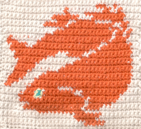 Knitted fish photo