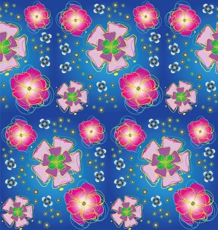 Seamless background with stylized flowers photo