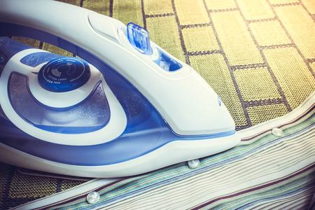 electric tools: Ironing Stock Photo