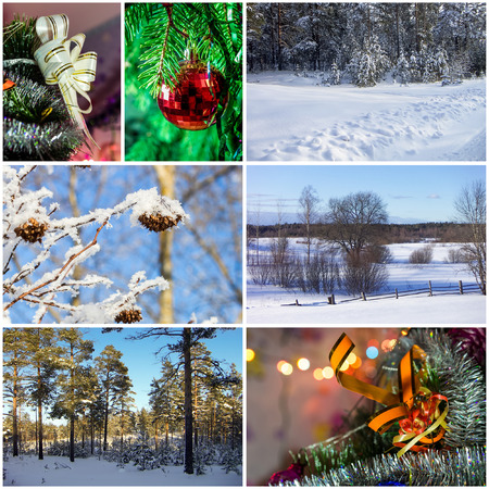 Winter collage photo