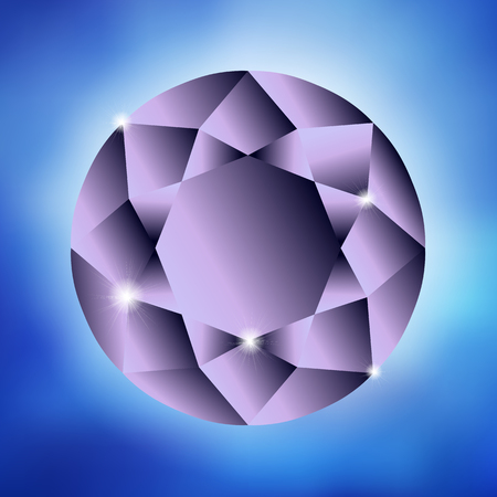ring ruby: Beautiful background with a large purple diamond. There is an option in the vector.