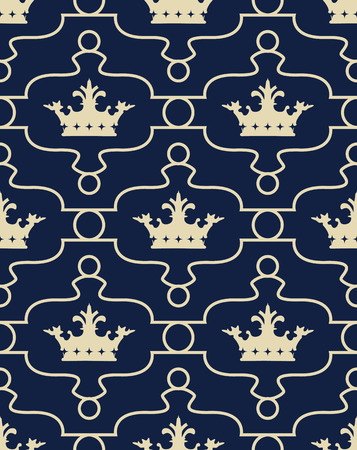 genteel: Seamless background with crowns.