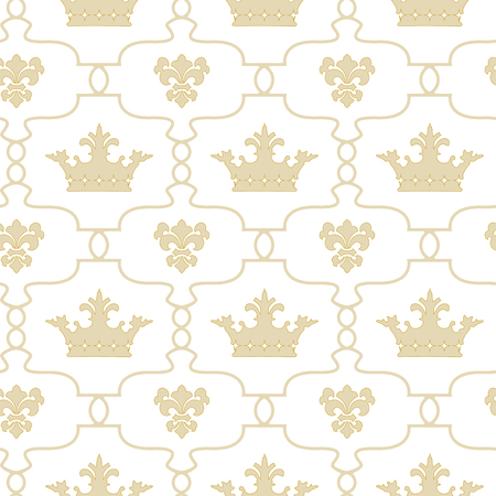 Seamless background with crowns.