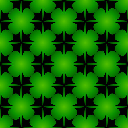 deltoid: The beautiful seamless bright green background with stylized clover leaves.