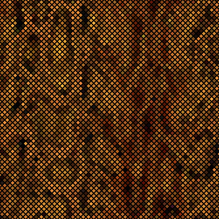 snake skin: Brown mosaic imitating a snake skin. There is an option in the vector.