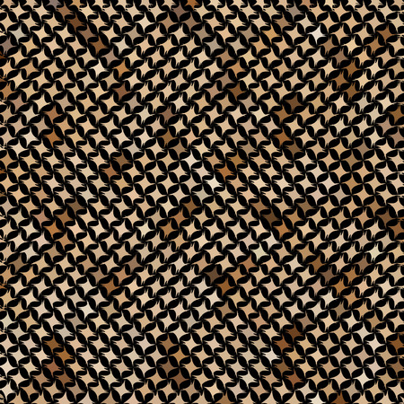 Brown mosaic imitating a snake skin. There is an option in the vector.