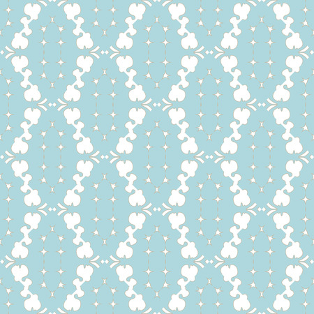18th: Beautiful elegant seamless pattern in pastel colors. Illustration