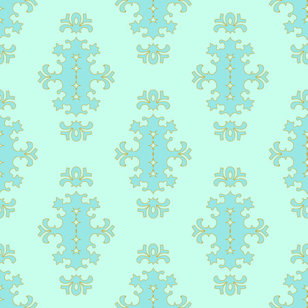 Beautiful elegant seamless pattern in pastel colors. Illustration