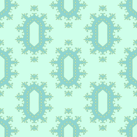 18th century style: Beautiful elegant seamless pattern in pastel colors. Illustration