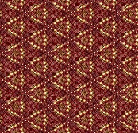 hot surface: Beautiful mosaic seamless pattern in orange tones.