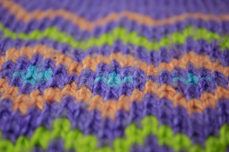 Multicolored knitted pattern
