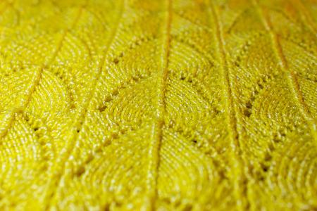 Yellow knitted pattern