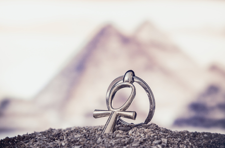 pagan cross: Egyptian Cross Ankh Stock Photo