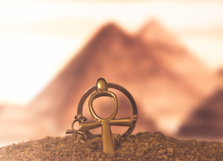Egyptian Cross Ankh Stock Photo