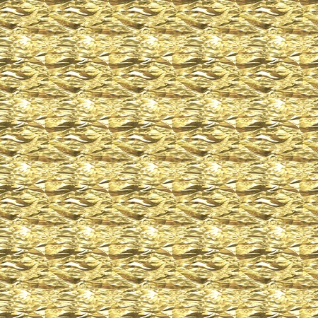 Background Crumpled gold foil Stock Photo
