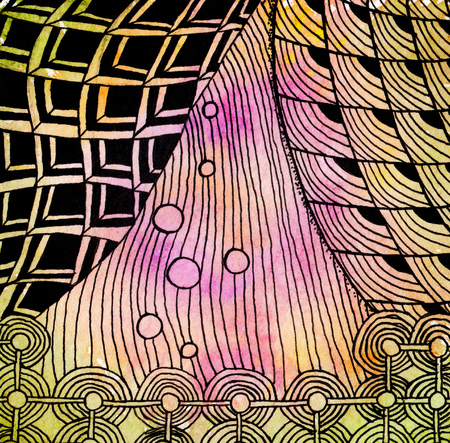 Abstract drawing in the style of zenart Stock Photo