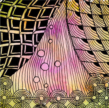 Abstract drawing in the style of zenart Illustration