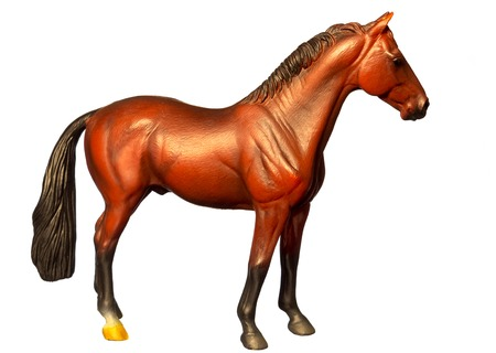 Figure of a horse. Isolated on white. Stock Photo