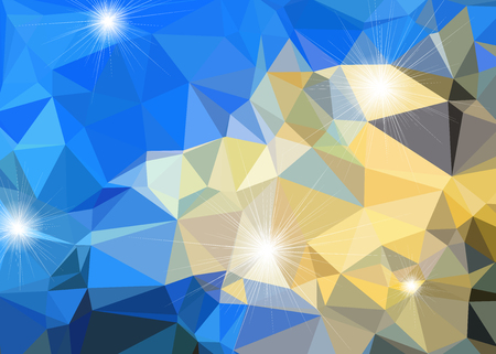 Abstract polygonal background in multicolored shades. There is a variant in the vector. Illustration