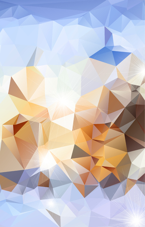 Abstract polygonal background illustration. Illustration