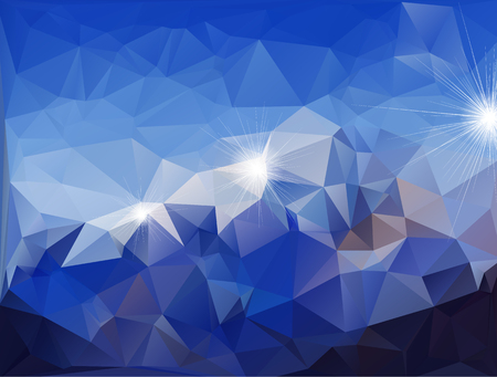 Abstract polygonal background  isolated on blue background.