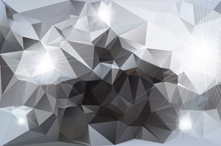 A Abstract polygonal background icon isolated on plain background.