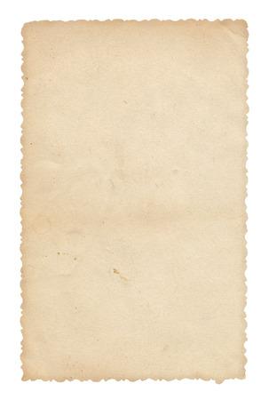 Textur altes Papier mit Spuren von Kratzern und Flecken Standard-Bild