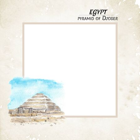 Mock up Egyptian Pyramid of Djoser
