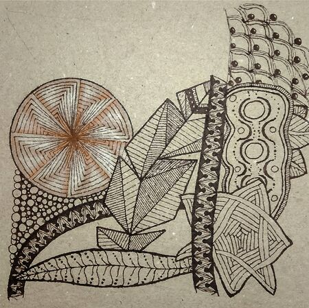 Abstract drawing in the style of zenart Stock fotó