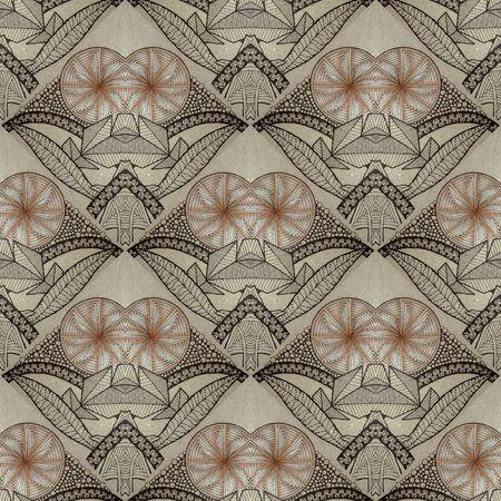Seamless pattern in zenart style