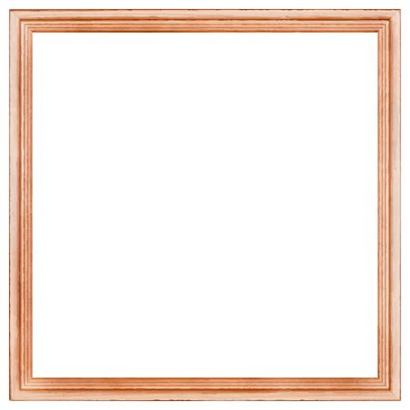 Square wooden frame. There is an option in the vector.