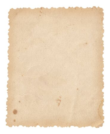 Old paper textures - background with space for text. Vintage paper. Isolated on white.