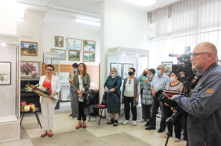 Opening of the exhibition of paintings