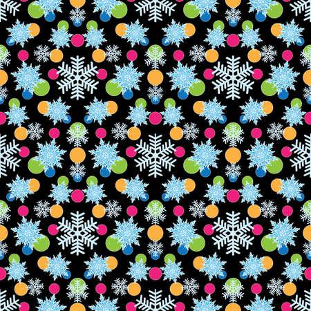 Seamless background with snowflakes Stock fotó