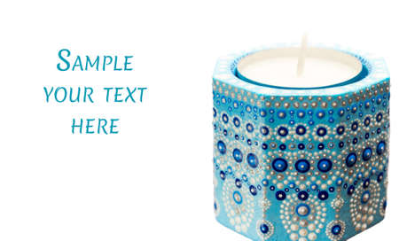 Candle holder with tea candles