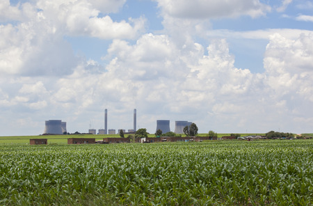 coal fired: Coal fired power station, South Africa Stock Photo