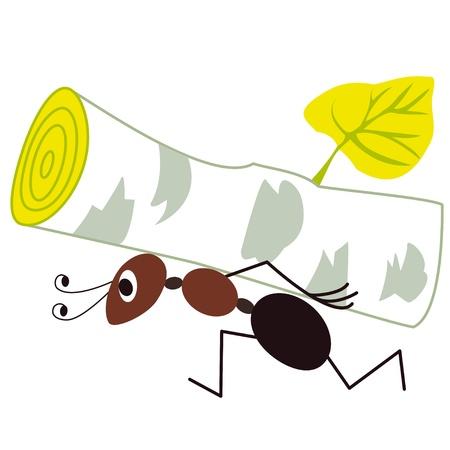 working animals: ant Illustration