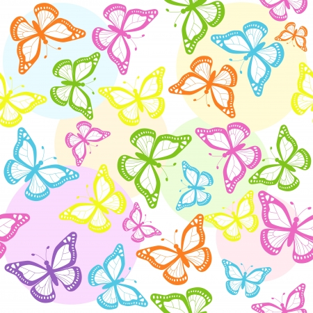 butterflies seamless Vector