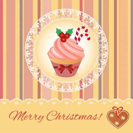 Merry Christmas greeting card design.  Vector