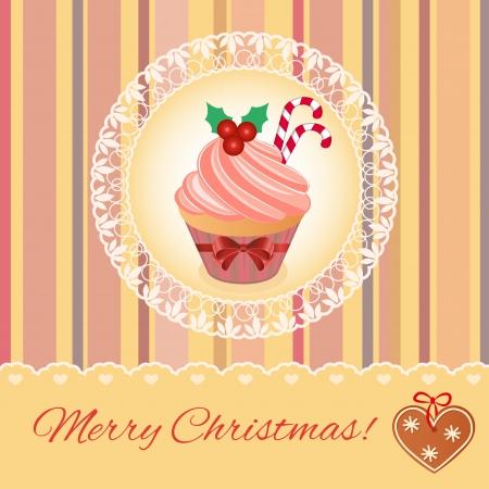 Merry Christmas greeting card design. Stock Vector - 22242605