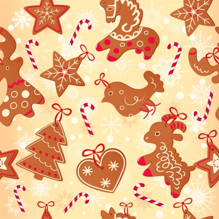 Merry Christmas greeting card design. Christmas cookis Vector